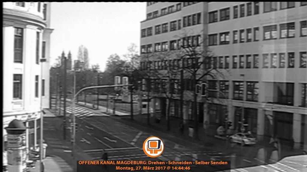Aktuelles Bil der Webcam des Offenen Kanals Magdeburg